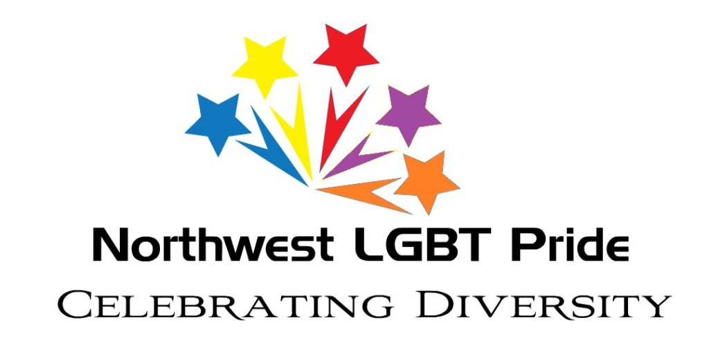 Northwest LGBT Pride logo with theme Celebrating Diversity for 2015